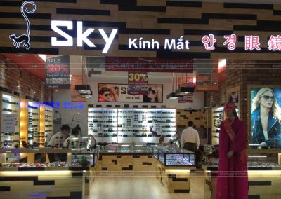 Dự án gian hàng kính mắt Hàn Quốc – SKY